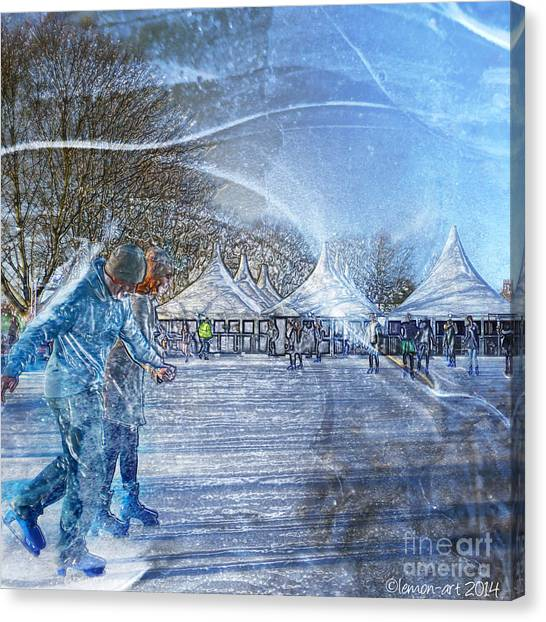 Midwinter Blues Canvas Print