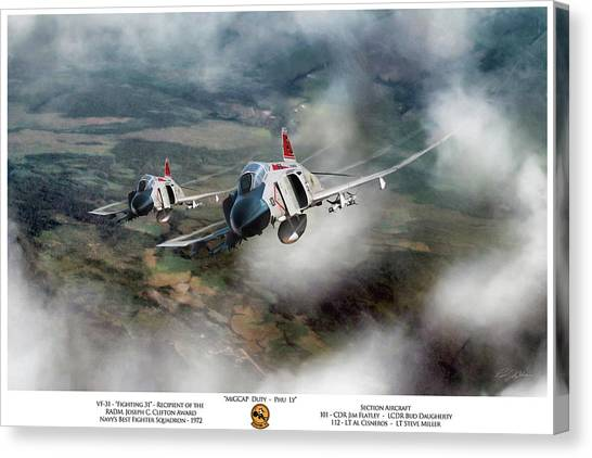 Vietnam War Canvas Print - Migcap Duty - Phu Ly by Peter Chilelli