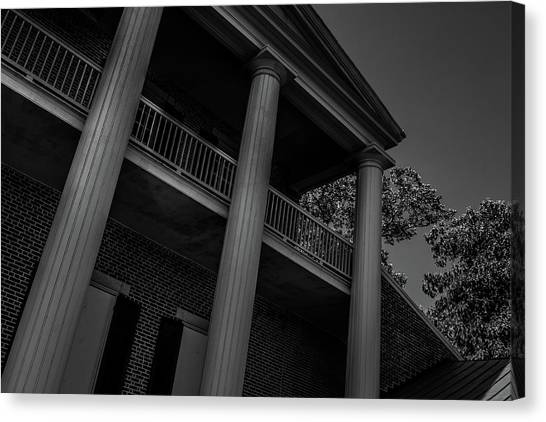 Canvas Print featuring the photograph Mighty Columns - The Hermitage by James L Bartlett