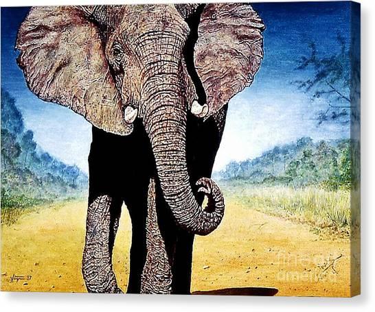 Mighty Elephant Canvas Print