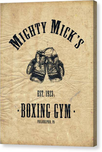 Boxing Canvas Print - Mighty Micks by Mark Rogan