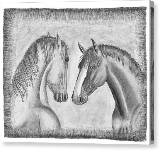 Mighty Vs Gentle Canvas Print