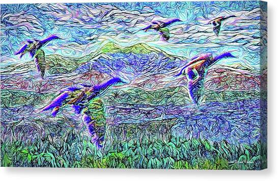 Migrate Beyond The Mountain Canvas Print