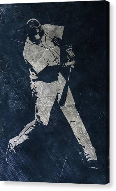 Detroit Tigers Canvas Print - Miguel Cabrera Detroit Tigers Art by Joe Hamilton