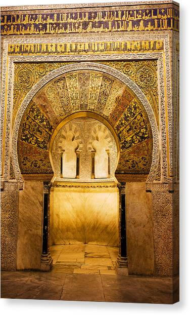 Mihrab In The Great Mosque Of Cordoba Canvas Print