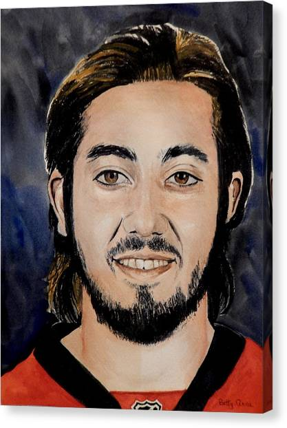 Ottawa Senators Canvas Print - Mika Zibanejad by Betty-Anne McDonald