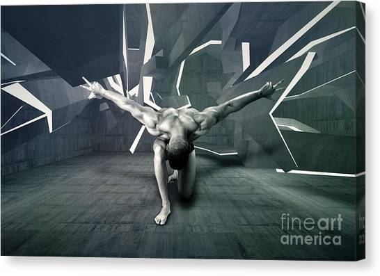Bodybuilder Canvas Print - Mike 13 by Mark Ashkenazi