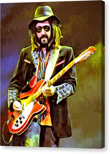 Tom Petty Canvas Print - Mike Campbell Portrait by Scott Wallace Digital Designs