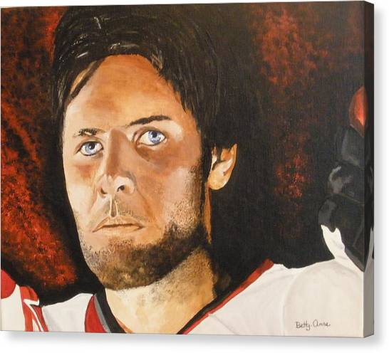 Ottawa Senators Canvas Print - Mike Fisher by Betty-Anne McDonald