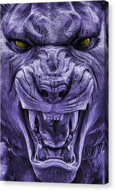 Mike In Purple And Gold Canvas Print by JC Findley