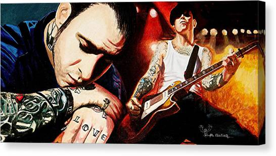 Mike Ness 'nuff Said Canvas Print