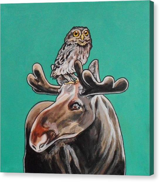 Mike The Moose Canvas Print