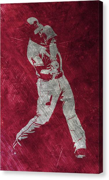 Los Angeles Angels Canvas Print - Mike Trout Los Angeles Angels Art by Joe Hamilton