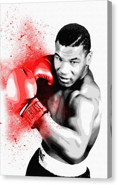 George Foreman Canvas Print - Mike Tyson - By Diana Van by Diana Van