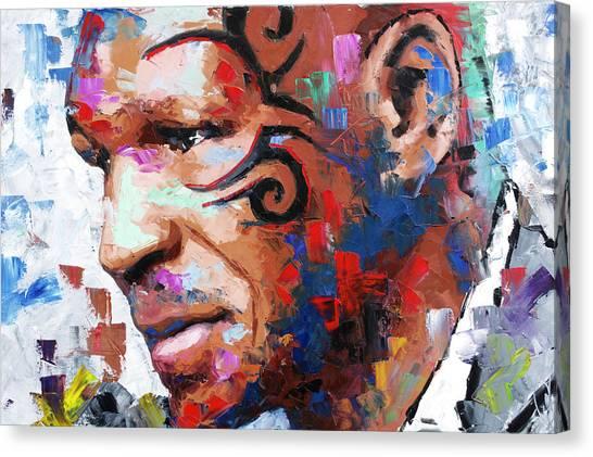 Muhammad Ali Canvas Print - Mike Tyson II by Richard Day