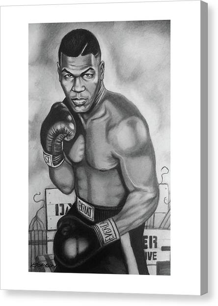 Mike Tyson Canvas Print - Mike Tyson by Kevin Johnson Art