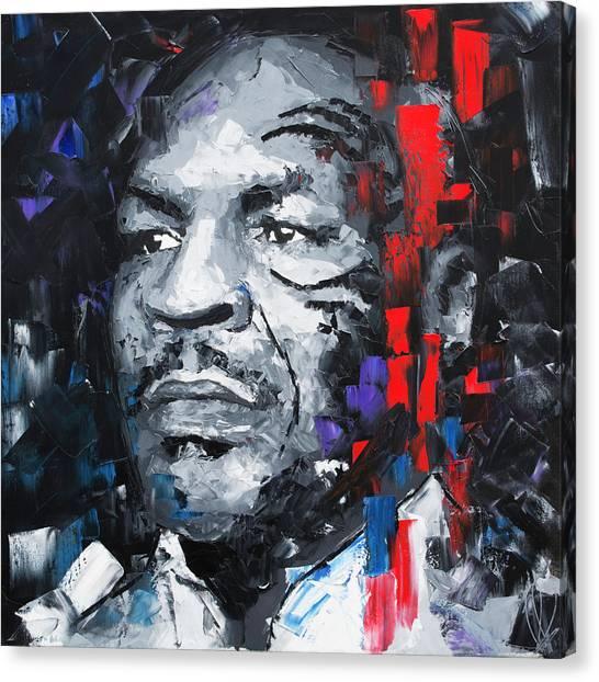 Muhammad Ali Canvas Print - Mike Tyson by Richard Day