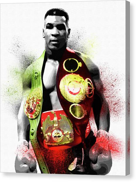 George Foreman Canvas Print - Mike Tyson World Heavyweight Champion by Diana Van