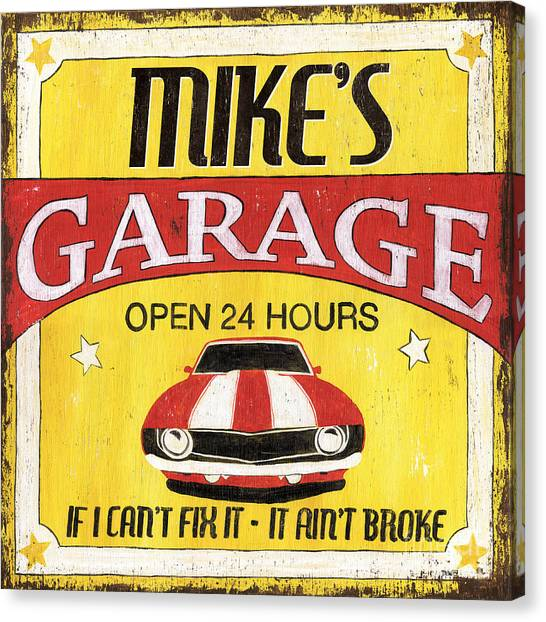 Repairs Canvas Print - Mike's Garage by Debbie DeWitt