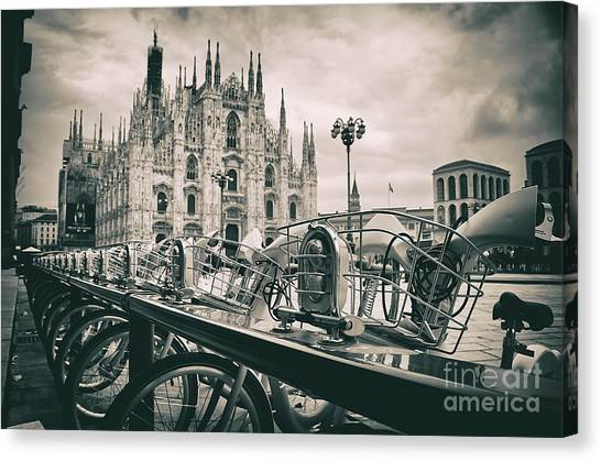 Milan Metropolitan City Canvas Print by Alessandro Giorgi Art Photography