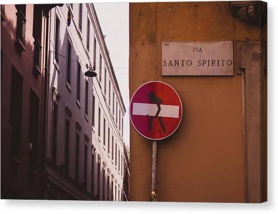 Street Scenes Canvas Print - Milano 11 by Cornelia Vogt