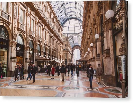Street Scenes Canvas Print - Milano 12 by Cornelia Vogt