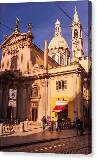 Street Scenes Canvas Print - Milano 17 by Cornelia Vogt