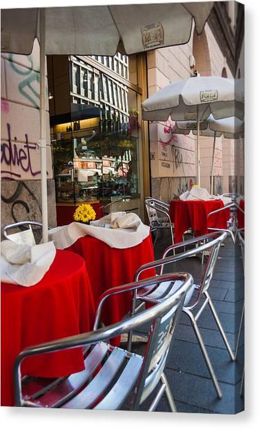 Street Scenes Canvas Print - Milano 18 by Cornelia Vogt