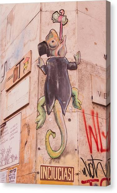 Street Scenes Canvas Print - Milano 23 by Cornelia Vogt