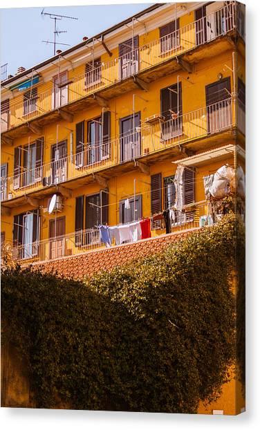 Street Scenes Canvas Print - Milano 32 by Cornelia Vogt
