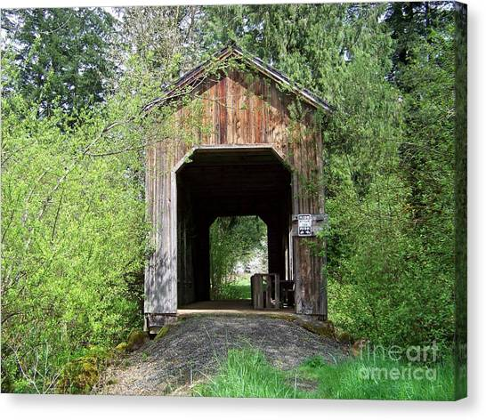 Milbrandt Bridge Portal Canvas Print