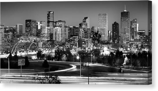 Denver Canvas Print - Mile High Skyline by Kevin Munro