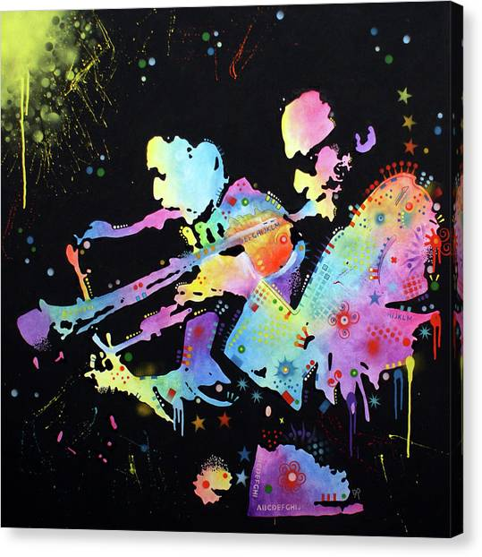 Miles Davis Canvas Print - Miles And Coltrane by Dean Russo Art