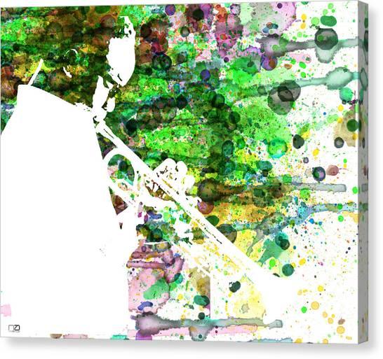 Saxophones Canvas Print - Miles Davis 2 by Naxart Studio