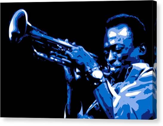 Miles Davis Canvas Print - Miles Davis by DB Artist