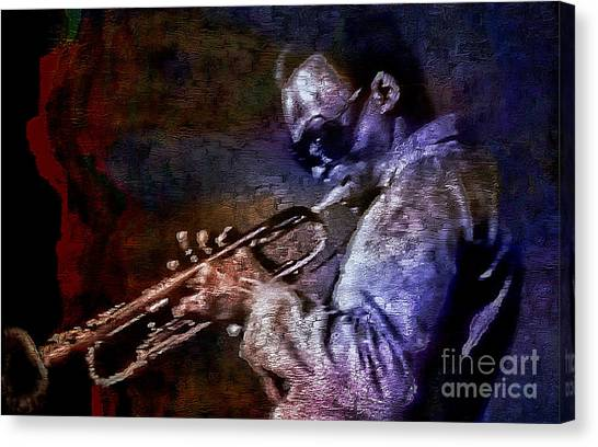 Miles Davis Jazz Legend 1969 Canvas Print