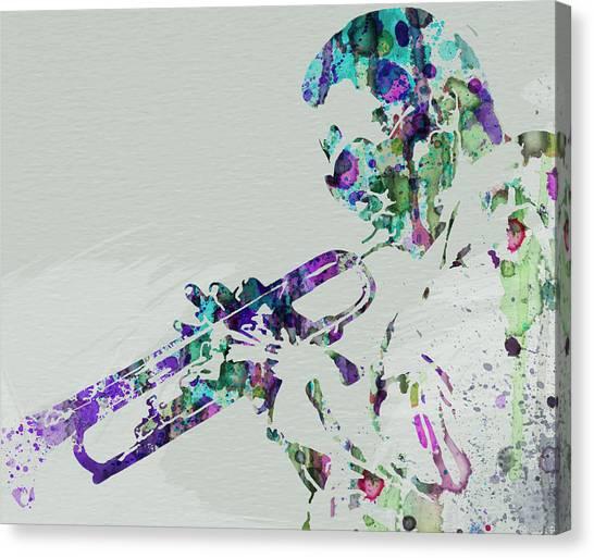 Wind Instruments Canvas Print - Miles Davis by Naxart Studio