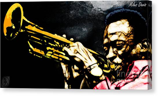 Miles Davis Canvas Print - Miles Davis by The DigArtisT