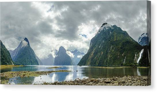 Milford Sound Panorama Canvas Print