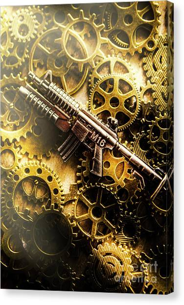 Rifles Canvas Print - Military Mechanics by Jorgo Photography - Wall Art Gallery