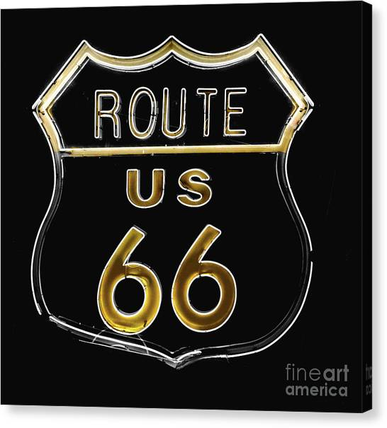 Interstates Canvas Print - Milk And Honey Route 66 by Mindy Sommers