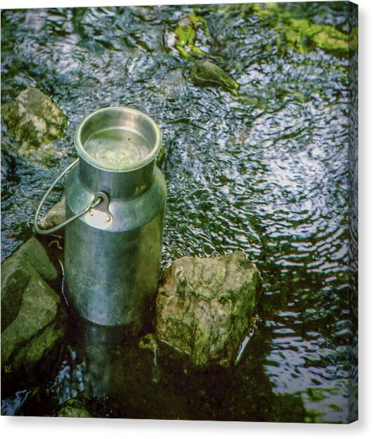 Milk Can - Wales Canvas Print