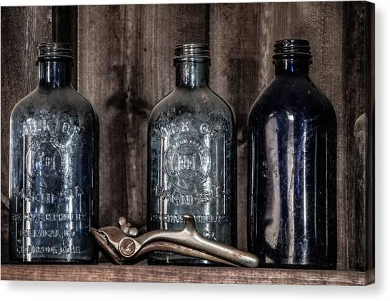 Milk Of Magnesia Bottles Canvas Print