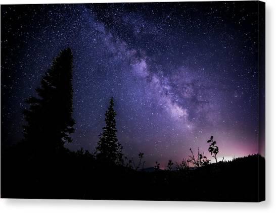 Milky Way At Powder Mountain Canvas Print
