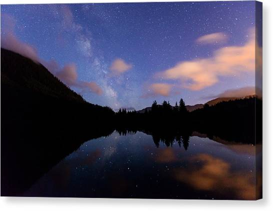 Milky Way At Snoqualmie Pass Canvas Print