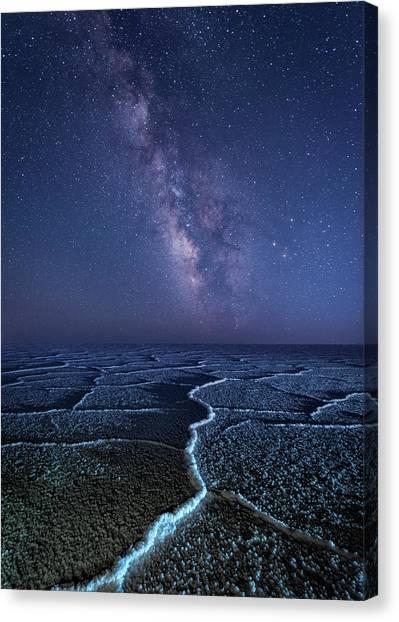 Milky Way At The Salt Flats Canvas Print