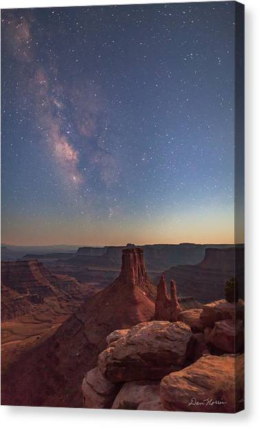 Milky Way At Twilight - Marlboro Point Canvas Print