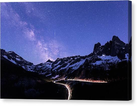 Milky Way At Washington Pass Canvas Print