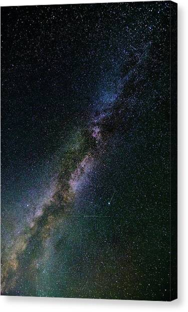 Canvas Print featuring the photograph Milky Way Core by Bryan Carter