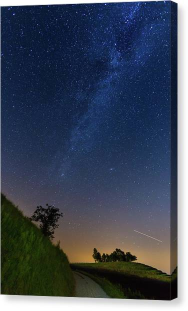 Canvas Print featuring the photograph Milky Way by Davor Zerjav